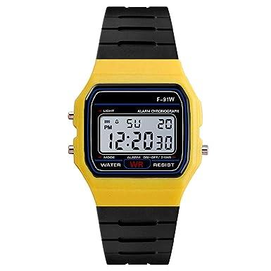 ZODOF Reloj de Hombre, Moda Hombres LED táctil Pantalla día Fecha Silicona Pulsera Reloj Digital LED Reloj Touch: Amazon.es: Ropa y accesorios