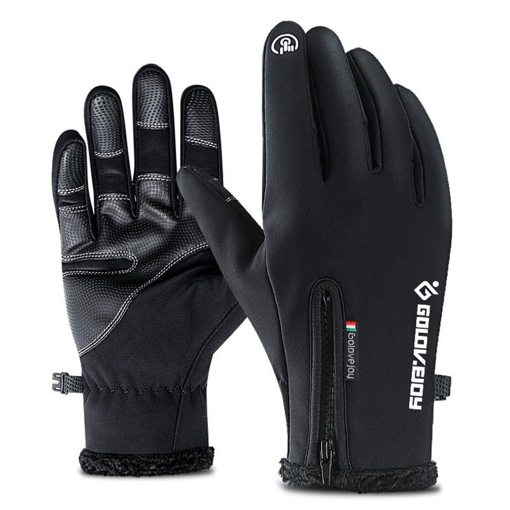 DSADDSD Wasserdichte Handschuhe im Freien, Winter-volle Finger-Noten-Handschuhe, Bergsteigen-Ski-Handschuhe fahrend