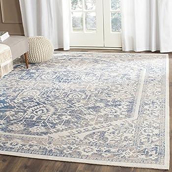 Safavieh Patina Collection PTN316B Taupe And Blue Cotton Area Rug (10u0027 X 14u0027
