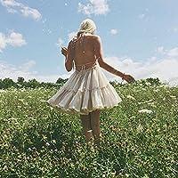 R.Vivimos Women Summer Halter Deep V Neck Sexy Patchwork Mini Short Dresses