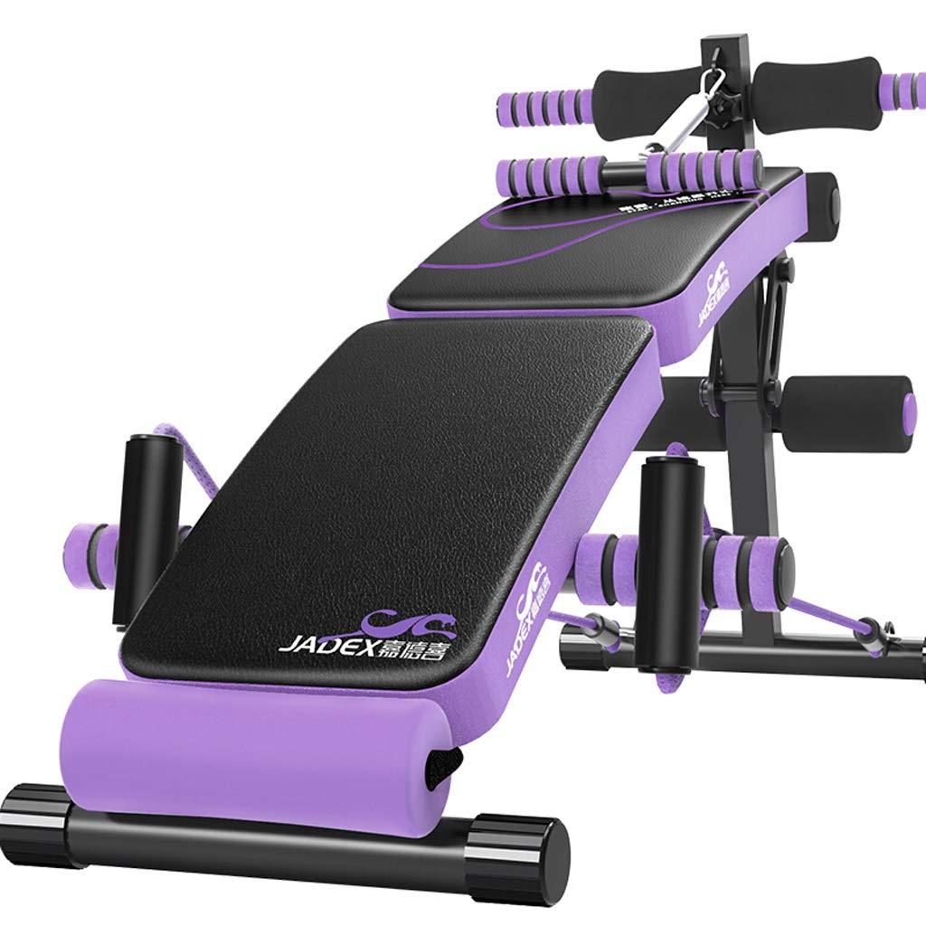 Bauchtrainer Lxn Einstellbare bogenförmige Abnahme Sitzen Bank Crunch Board Übung Fitness Workout, Multifunktionale Fitnessgeräte (Falten + Treten)