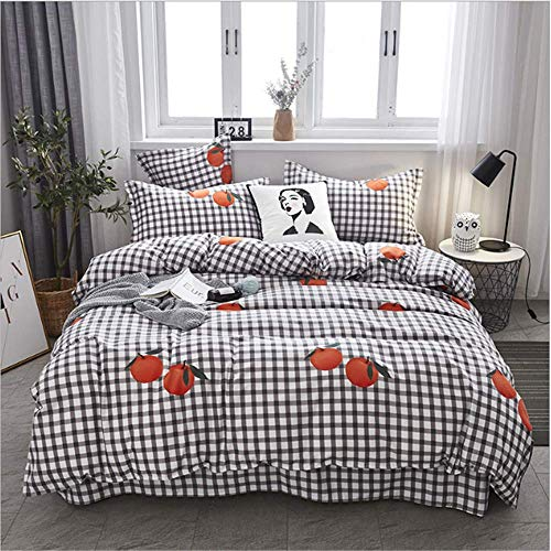 SSHHJ Comfortable Printing Family Bedding Set Bed Linings Duvet Cover Pillowcases A 200x230cm