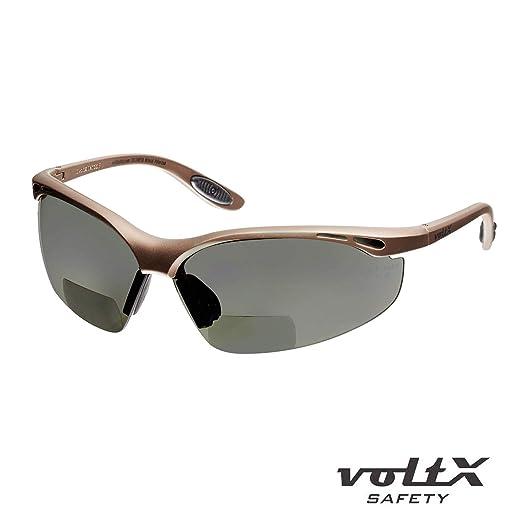 voltX CONSTRUCTOR POLARIZADO (dioptría +1.0) Gafas de seguridad de lectura bifocales, Certificado CE EN166F / Gafas de ciclismo - Polarized Safety Reading ...