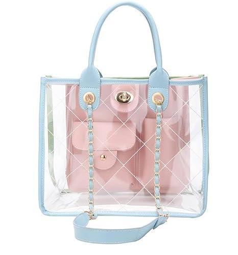 8fda48790b0a Amazon.com: CANDYGIRLS Women Bag Set Handbag Shoulder Bag Hit Color ...