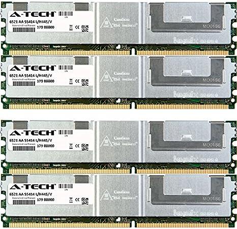 4 x 8GB Genuine A-Tech Brand. DIMM DDR2 ECC Fully Buffered PC2-5300F 667MHz Server Ram Memory for Dell PowerEdge Series 1950 III 2950 III M600 R900 32GB KIT