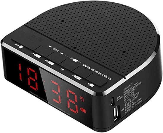 Réveil Numérique Haut Parleur Bluetooth Radio Multifonction