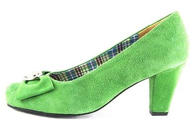 Hirschkogel Echt Pumps Leder Trachtenschuhe Schuhe Heels High Grün XiOZkuP