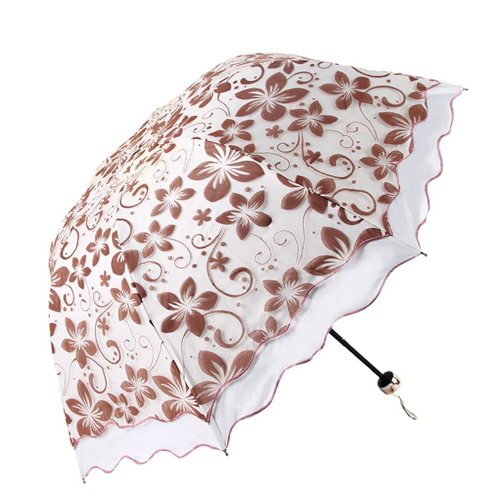 d8513e040274 Amazon.com: KXDAR Folding Travel Sun Umbrella Lady's Parasol ...