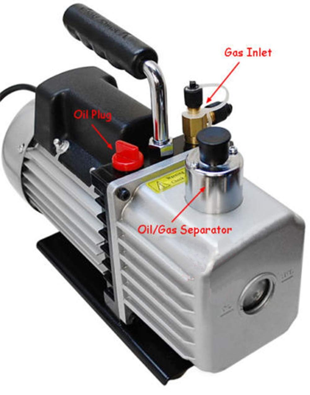 ees.2 Stage Electric Refrigerant 2.5CFM Vacuum Pump HVAC 1/3HP Pumping System