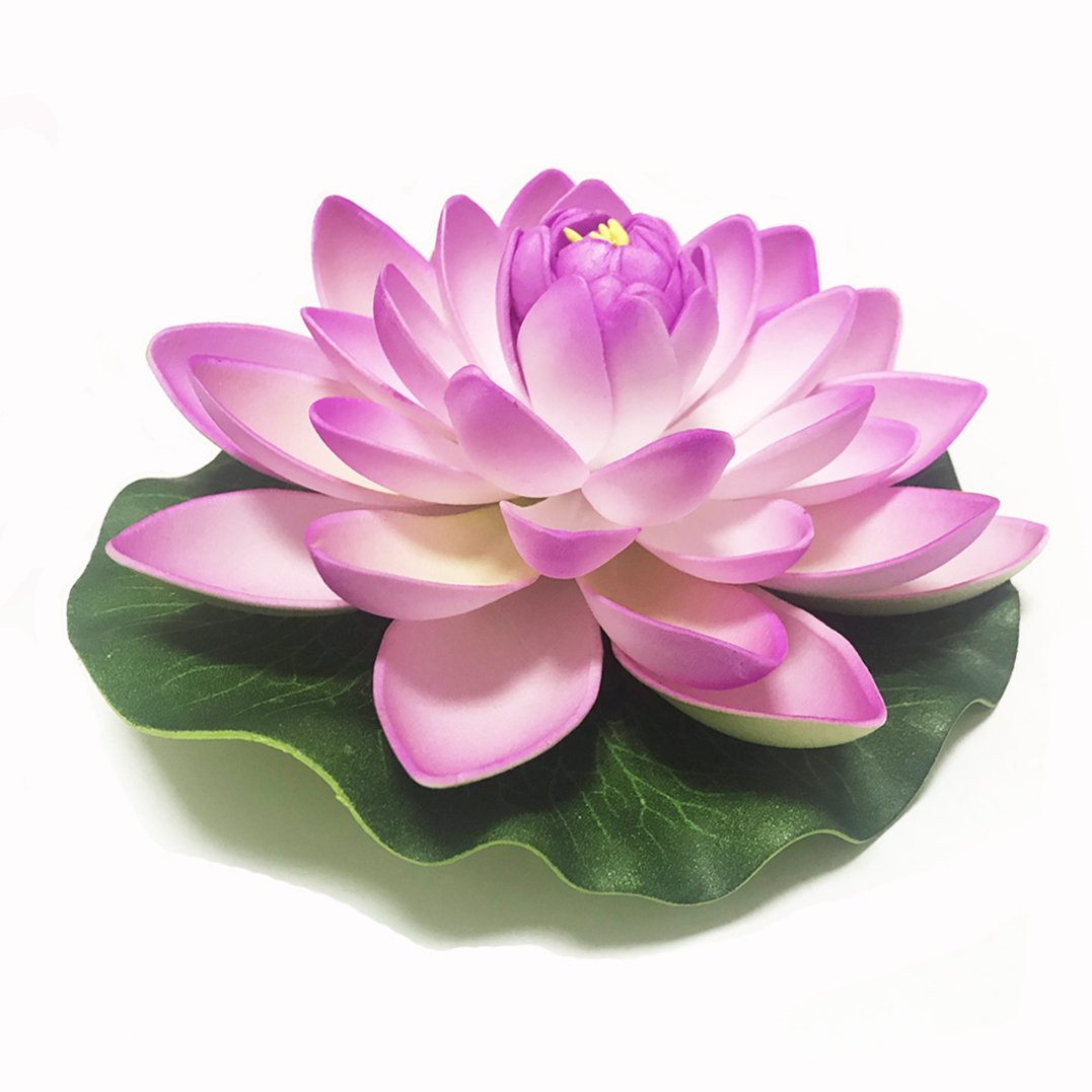 Amazon Emmix Artificial Water Lilies Foam Floating Lotus Flower