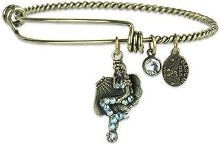 product image for Anne Koplik Mermaid Adventure Charm Bangle Bracelet with Swarovski Crystals