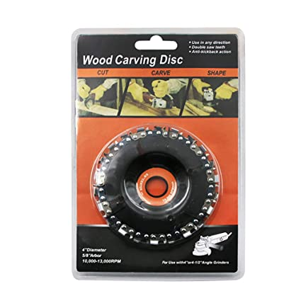 jeerbly Chain Plate Wood Carving Disc, 4 Inch Chain Plate