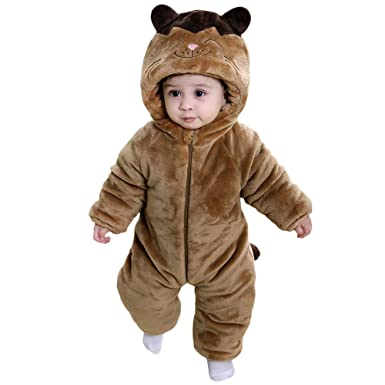 664c1c4aaefb Amazon.com  Mukola Baby Totoro Onesie Costume Thick Flannel Pajamas Winter  Kids Romper Costume  Clothing
