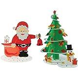 Imagimake Sparkling Christmas Tree and Santa Surprize, DIY, Decorations, Gifts Combo