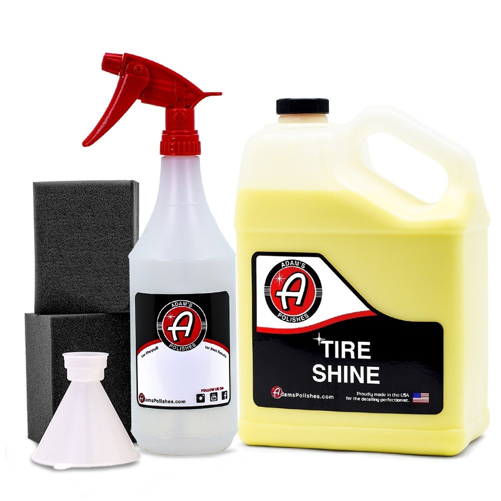 Adam's Tire Shine - Achieve a Lustrous, Dark, Long Lasting Shine - Non-Greasy and No Sling Formulation (Refill Kit)