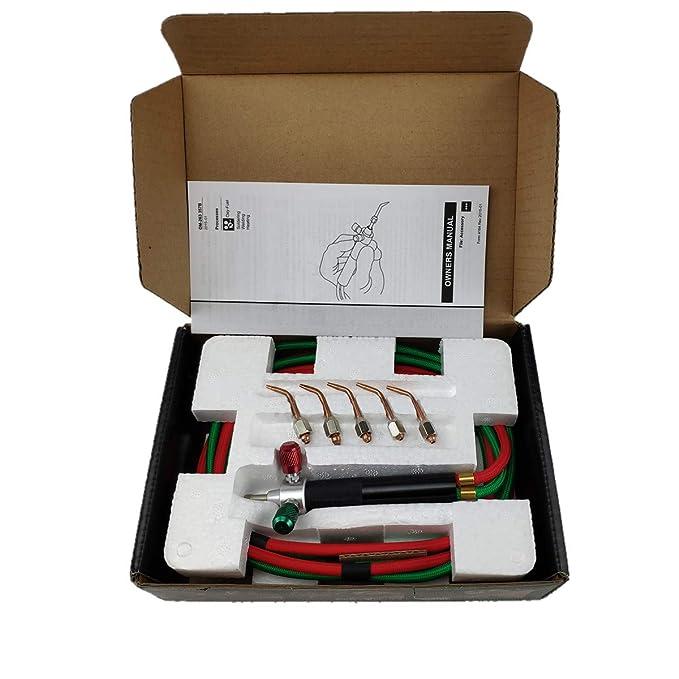 Mini Pinpoint - Linterna de soldadura de oxígeno, acetileno, propano de hidrógeno, gas MPP para soldadura de soldadura, soldadura de soldadura, ...