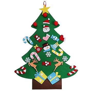 AerWo 3ft Bricolaje árbol de Navidad de Fieltro Con 26 Adornos ...