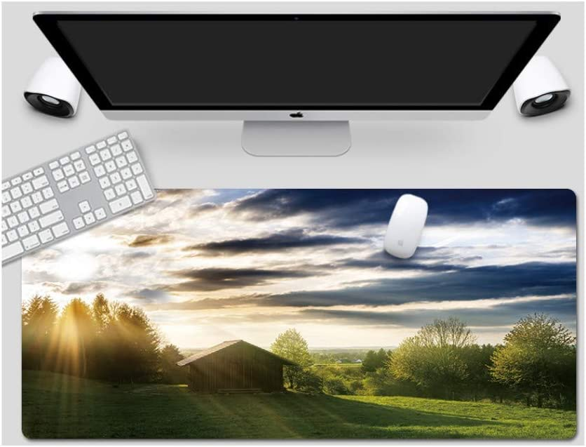 Royal Blue Table Mat Mouse Pad Large Padded Waterproof Non-Slip Keyboard Pad Suitable for Desktop Computer//Notebook,1200x600mmx3mm