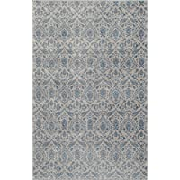 Momeni Rugs KERMAKE-03BLU2030 Kerman Collection, Antique Persian Inspired Traditional Area Rug, 2 x 3, Blue