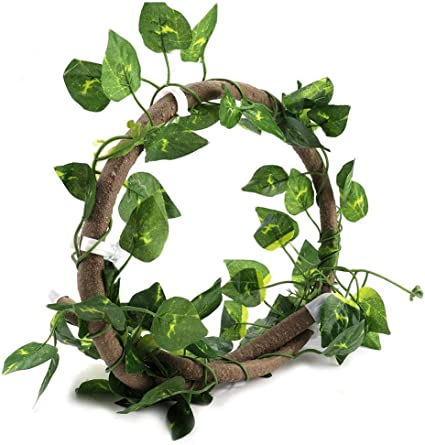 Frogs Snakes and More Reptiles POPETPOP Reptile Branch for Climbing-Jungle Vines for Reptiles with Fake Terrarium Plants-Pet Habitat Decor for Crested Gecko Lizard