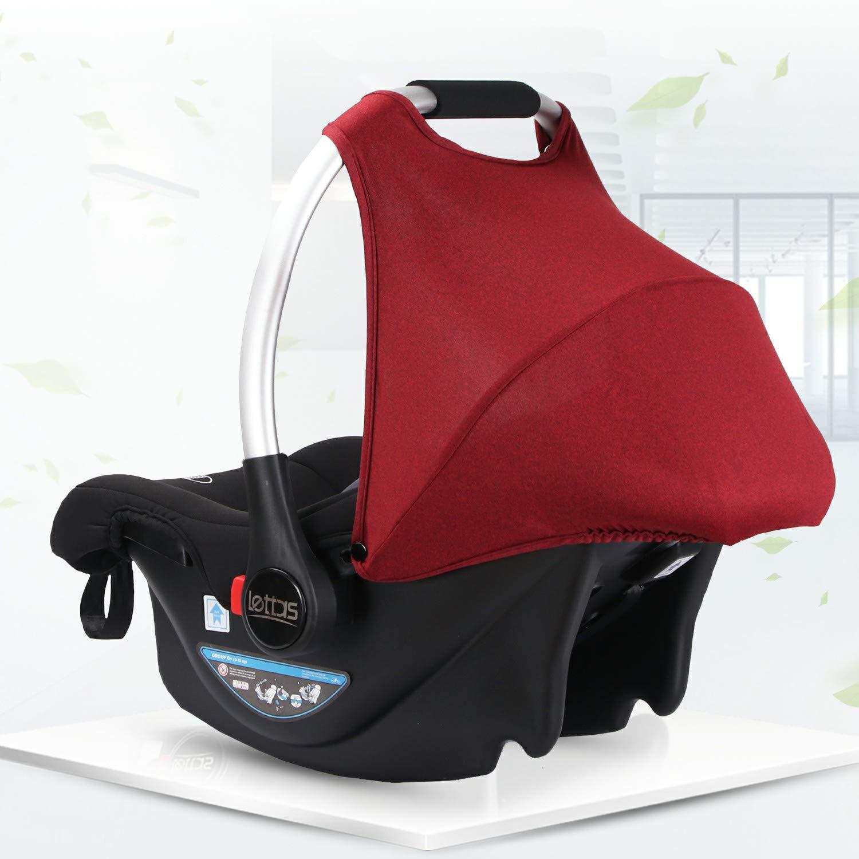 nutzbar ab der Geburt bis ca 12 Monate ECE-R 44//04 LETTAS Babyschale Baby-Autositz mit Sonnenverdeck Gruppe 0+ Kindersitz 0-13 kg