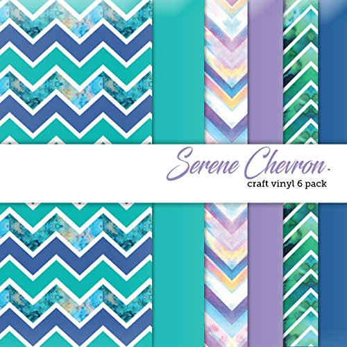 Serene chevron craft vinyl 6 sheets 12x12 for vinyl for Craft vinyl cutter reviews