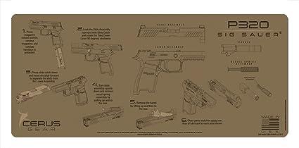Amazon com : Cerus Gear Sig Sauer P320 Instructional Promat, Coyote