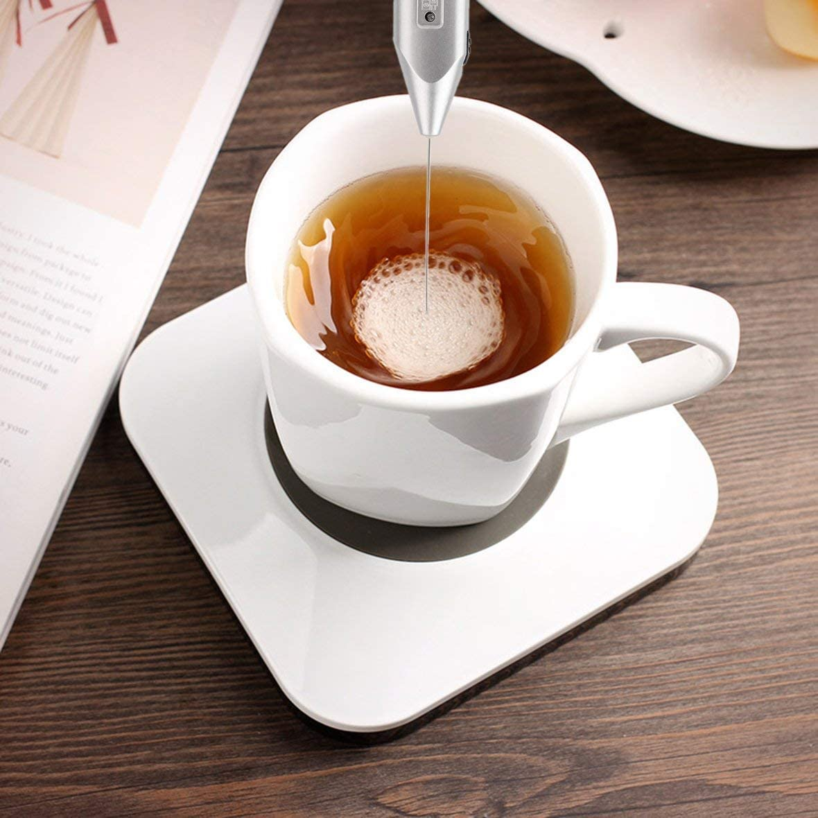 Cordless Milk Frother Handheld Foamer Cappuccino Maker Latte Espresso Chocolate Coffee Metal Kitchen Mixer Handy Guard Stiring #Pennytupu