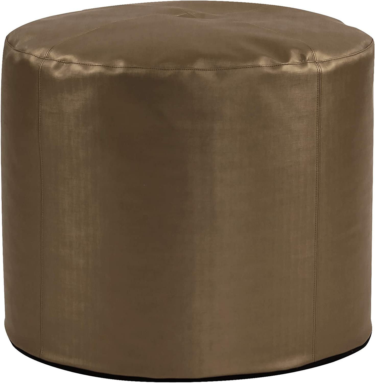 Howard Elliott Pouf Ottoman, Tall With Cover, Luxe Bronze