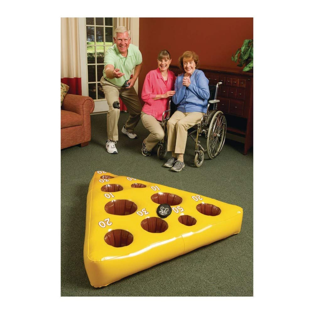 Inflatable Mouse and Cheese Toss Game by S&S Worldwide (Image #1)