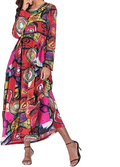 Wommen Kaftan Long Dress Sleeveless Cotton Linen Floral Maxi Dress Summer