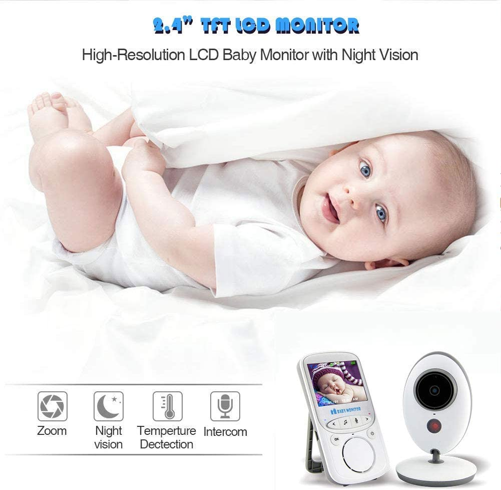 dxx Video inalámbrico para bebés con cámara digital 2.4Ghz Wifi Connect Ir Visión nocturna y audio de 2 vías Intercomunicador Cuidado del bebé Niñera, monitoreo de temperatura Vigilancia de seguridad: Amazon.es: Bricolaje