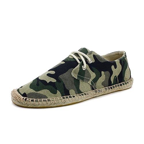 Zapatos Lino Espadrilles con Cordones Lona Camuflaje Alpargatas para Hombre: Amazon.es: Zapatos y complementos
