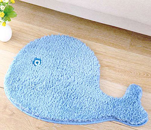 Non Slip Blue Whale Entry Rug 19 6 X 27 5 Inch