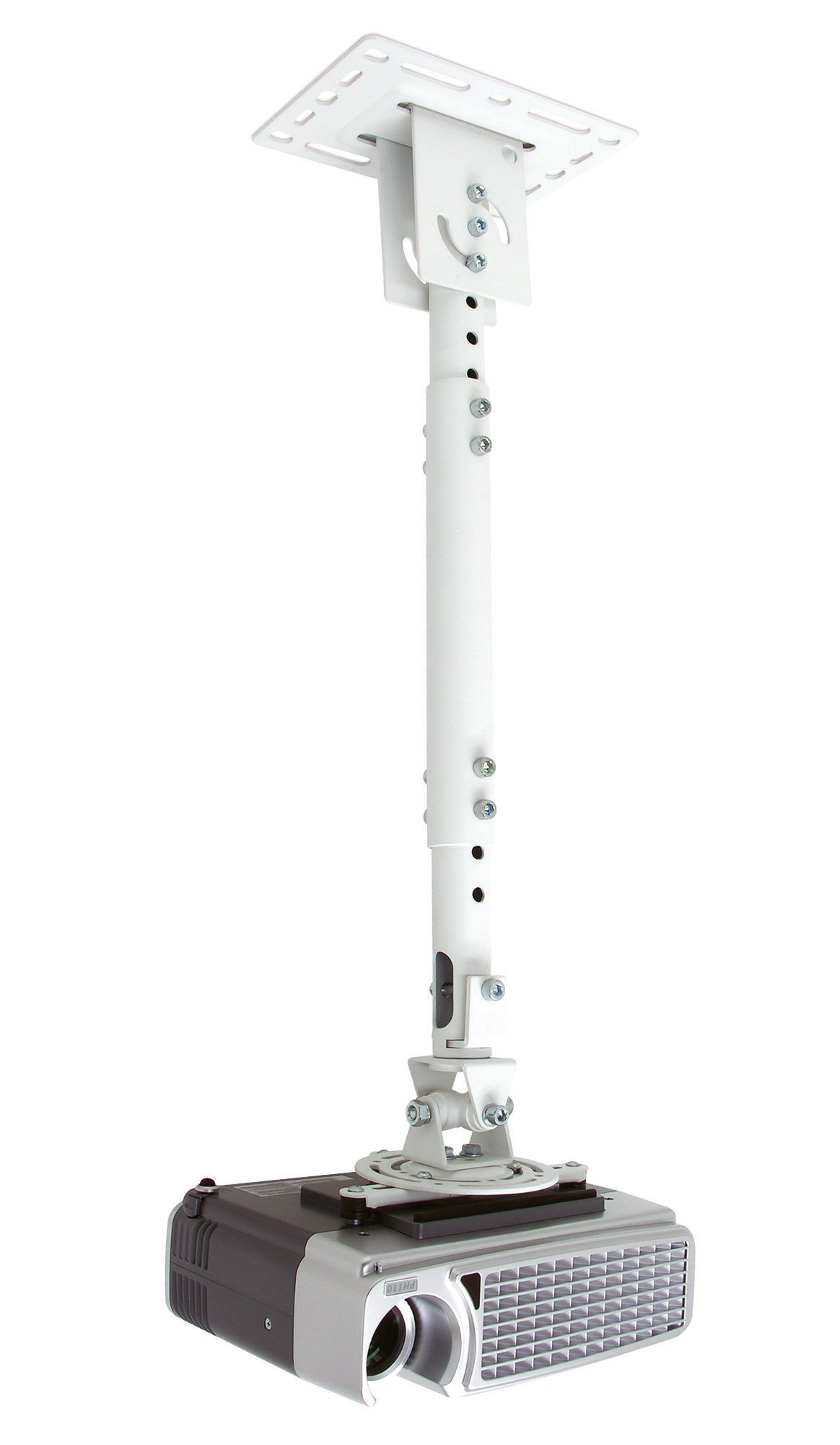 Atdec TH-WH-PJ-CM Height Adjustable Ceiling Projector Mount for Displays up to 33-Pound, White by Atdec