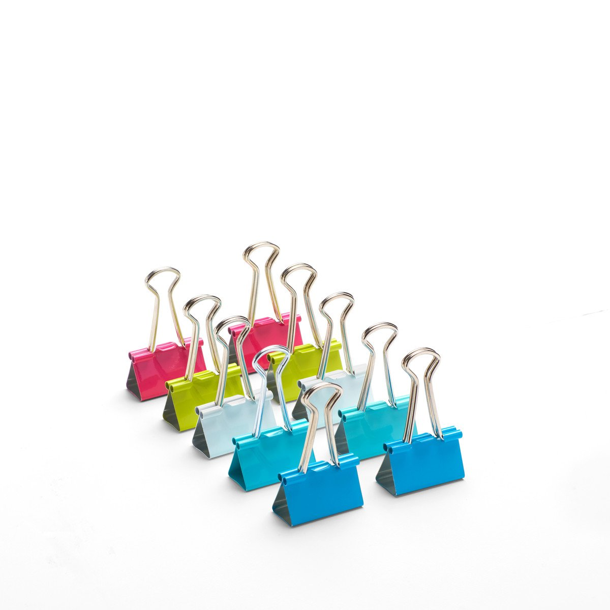 Poppin Bulk Pack of Assorted Medium Binder Clips (480 count)