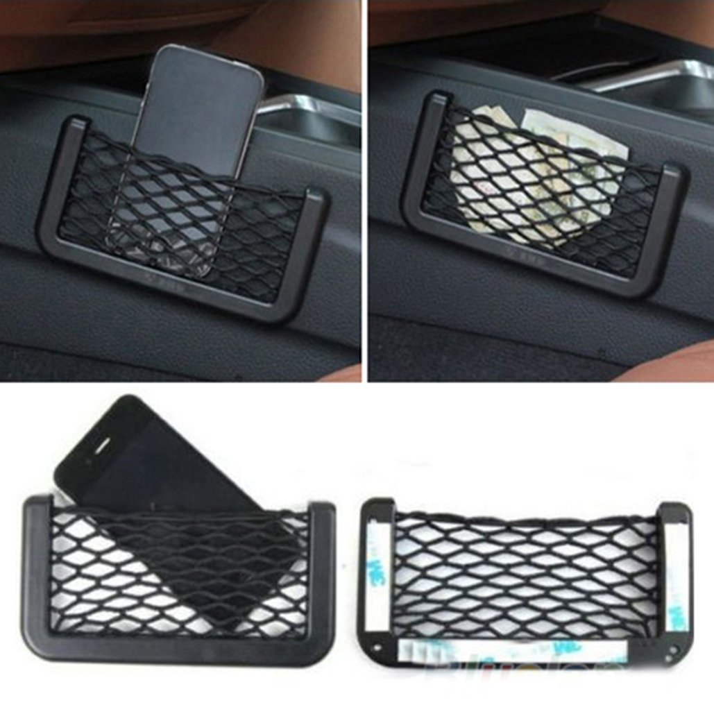 Universal Car Cargo Trunk Seat Back Storage Net Bag Back Seat Mesh Net Storage Pouch Bag Phone Holder Pocket Organizer Brussels08