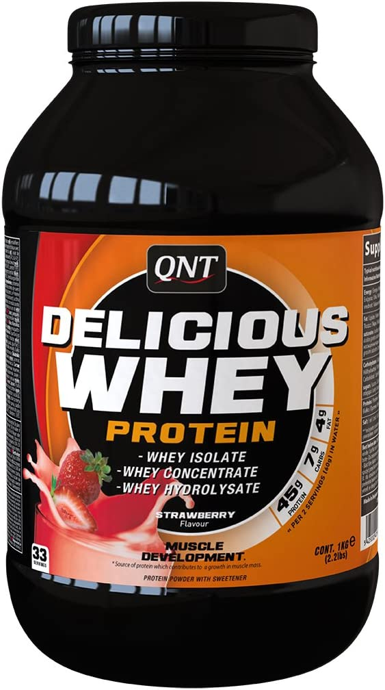 QNT Delicious Whey Protein, Sabor Strawberry - 1000 gr