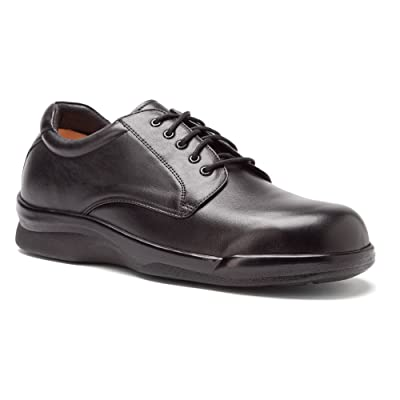 Amazon.com | Aetrex Men's Ambulator Conform Oxford Orthotic Shoes, Black Smooth Leather, 9 XW | Oxfords