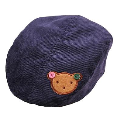 91ac055b9e3 Samgu Bébés garçons Filles Infant Corduroy Chapeau d ours Beret Cap pour  Kid 3-