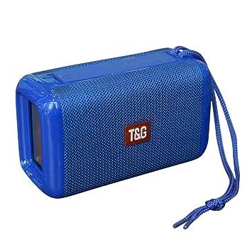 Beisoug TG-163 Altavoz portátil con Bluetooth estéreo y ...