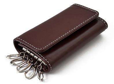 5f456a6f04c0e5 ブラウン F 本革 キーケース 5連 キーリング メンズ レディース 小銭入れあり 牛革 スマート