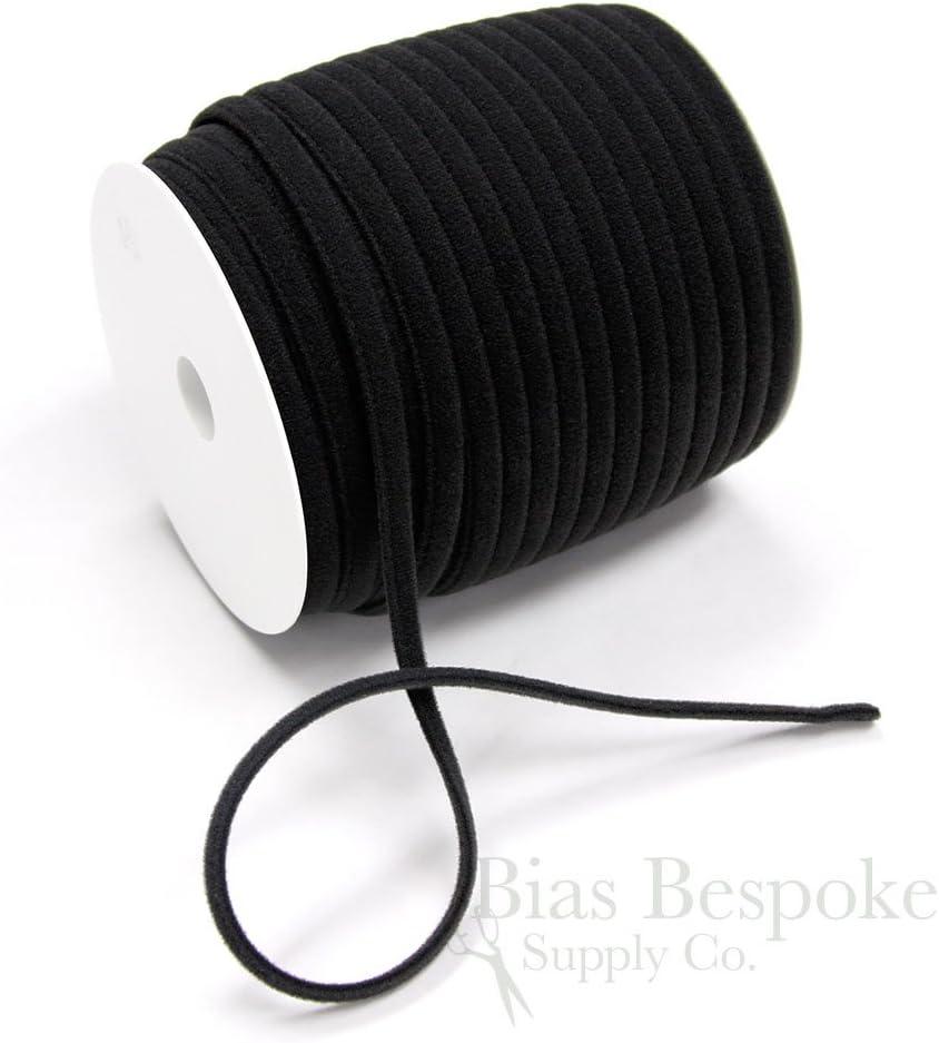 Made in Italy 12 Yards of UMA Plush Bra Underwire Casing Off-Black