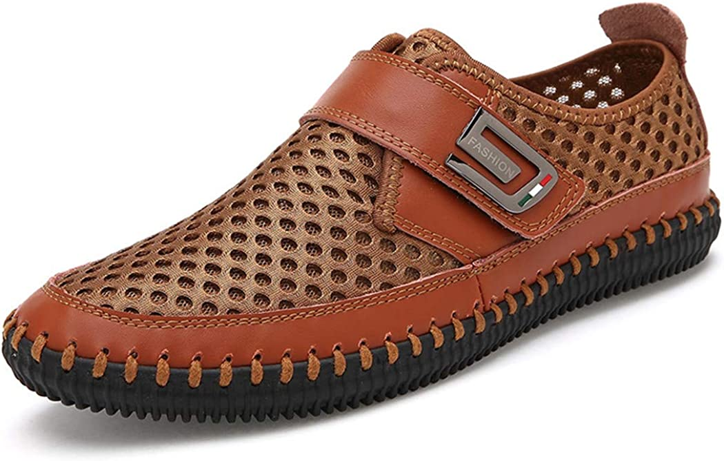 Genuine Leather Men Flats Loafers Breathable Casual Chaussure Real Leather Shoes