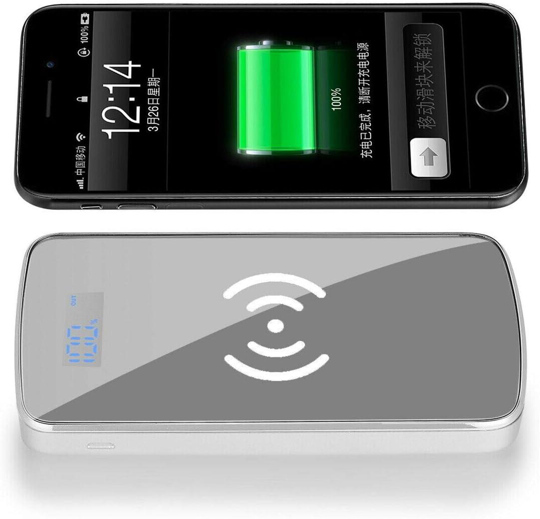 90000mAh Power Bank Qi Wireless Charging 2 USB LED Portable Battery Charger USA Gold