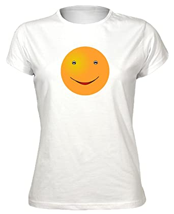 Amazon Tgf Smiley Face Tees Womens Happy Cool Smiley Face