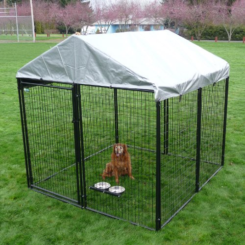 Akc Pro-Breeder Kennel With Cover And Anchors, 10 by 10 by 6-Feet, My Pet Supplies