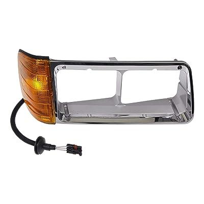 Dorman 889-5207 Passenger Side Headlight Bezel for Select Freightliner Models, Chrome: Automotive