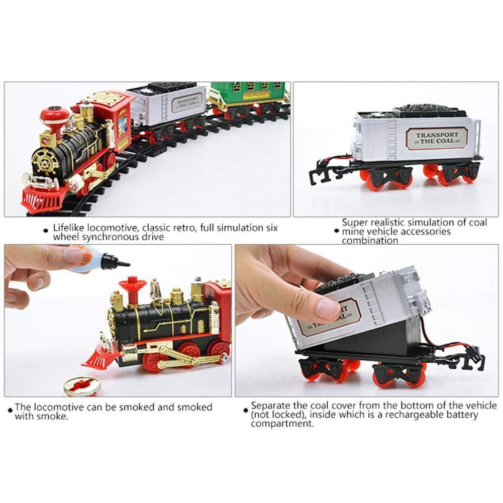 gaeruite Electric Orbit Tren de Tren Juego de Tren de Juguete con Control Remoto, Simulación Tren de Tren de Juguete con Humo Real