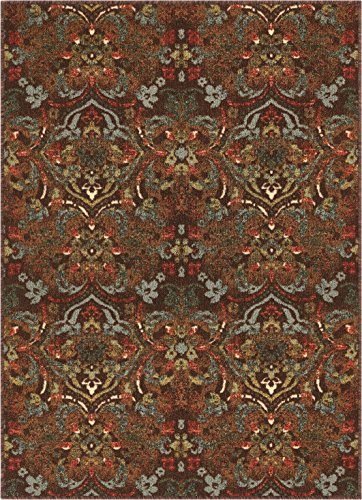 Well Woven KC-108-4 Kings Court Florence Traditional Brown Damask 3'3